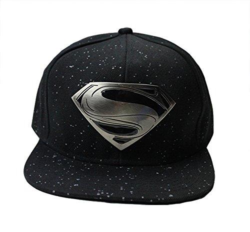 Scheppend Men and Women's Superman Baseball Cap (Black)