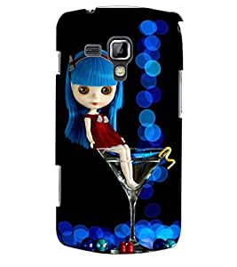 ColourCraft Cute Doll Back Case Cover for SAMSUNG GALAXY S DUOS S7562
