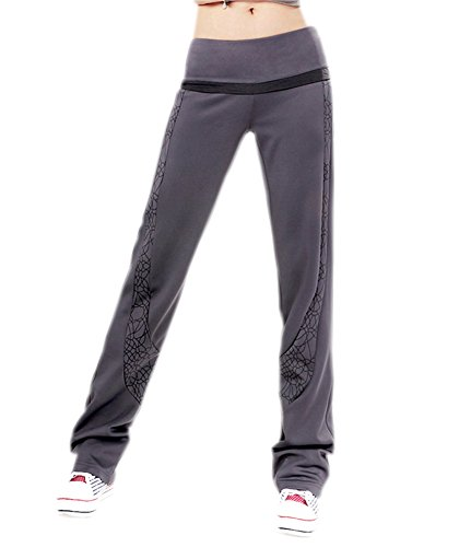 Eudora Women'S Spring & Fall Printed Straight Sports Dance Jogging Harem Pants Xl Gray