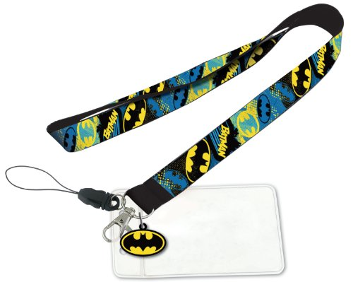 DC Batman Lanyard with PVC Dangle