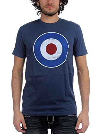 Impact - Originals Distressed Mod Target Mens T-Shirt In Blue, Size: X-Large, Color: Blue