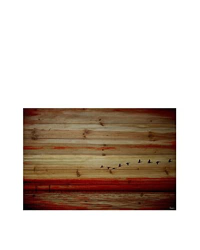 Parvez Taj Flying South Pine Wood Wall Art