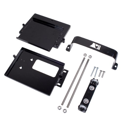 Rugged Ridge 11214.52 Black Dual Battery Tray Kit for Jeep Wrangler 1997-2006