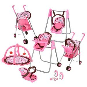 Toy Baby Carriage Graco Play Set