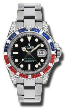 Rolex GMT Master II Black Automatic 18kt White