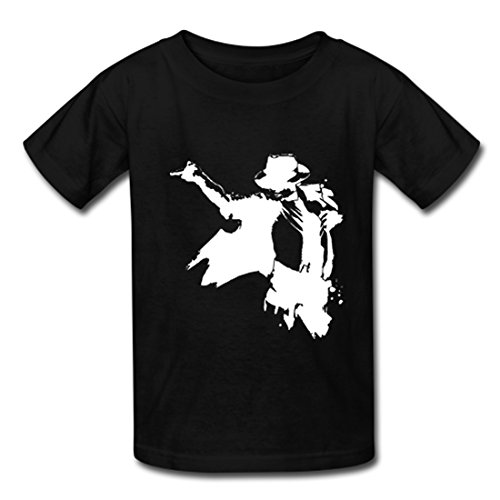 Vinne Michael Jackson Kid's Supersoft Tee Casual Sport T-shirt Black
