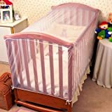 Mosquito Nets 4 U Baby Cot Insect Net with Free Drawstring Bag, White