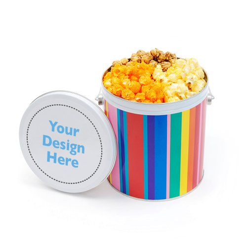 Dylan's Candy Bar Personalizable 3-Way Gallon Tin - Popcorn