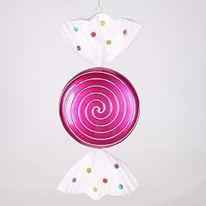 "Vickerman 33560 - 18.5"" Cerise Jewel Swirl Candy Christmas Tree Ornament (M131209)"