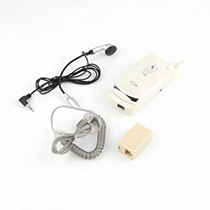 Mini Corded Land Line Flip Phone Headset Microphone New