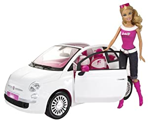 Barbie Doll and Fiat Vehicle