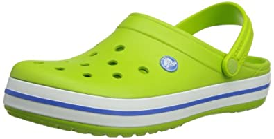 Crocs Crocband, Unisex-Adults' Clogs, Green (Volt Green/Varsity Blue), 4 UK(37/38 EU)