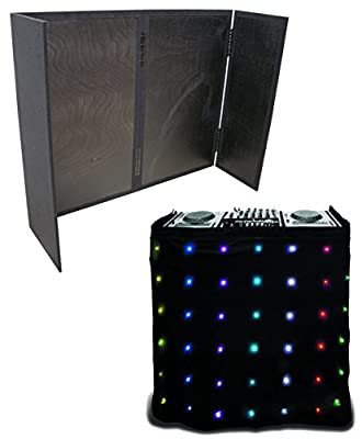 Chauvet Motion Facade LED Mobile RGB Animated Front Skirt with Black Carpet DJ Booth Facade Package