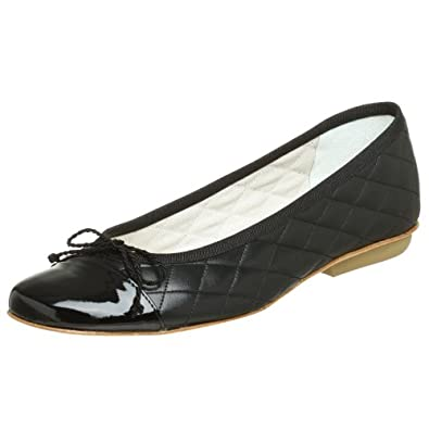 French Sole FS/NY Women's Passport Flat,Black/Black,6 M