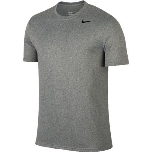 Nike Legend 2.0 Short Sleeve T- Shirt (X-Large, Dark Grey Heather)