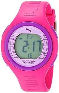 PUMA Women's PU910541012 Pulse Hot Pink and Purple Digital Heart Rate Monitor Watch