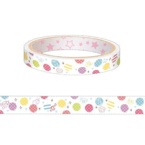 Colorful Dots Design Decorative Mini Tape (L:25m X H1.5cm)