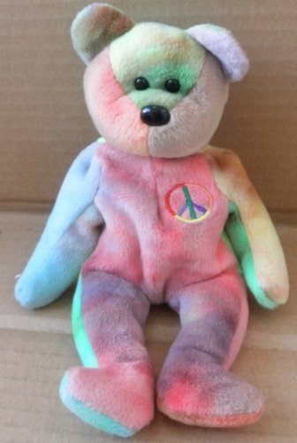 TY Beanie Babies Peace the Bear Plush Toy Stuffed Animal - 1