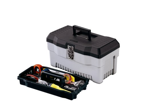 Stack on PB inch Multi Purpose Tool Box Black Gray