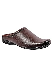 Wave Walk Brown Synthetic Mens Mules
