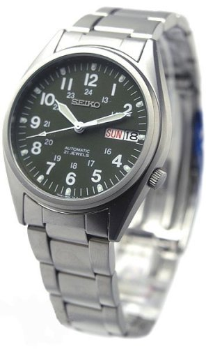 Seiko Mens Military Style Automatic Watch #SNX425K