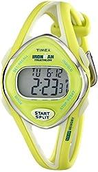 Timex Women's T5K656 Ironman Sleek 50-Lap Lime Resin Watch