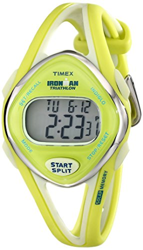 Timex Women's T5K656 Ironman Sleek 50 Lap Lime Resin Watch