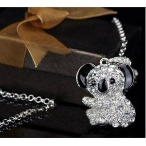 High Quality 4 GB Koala Bear Shape Crystal Jewelry USB Flash Memory Drive Necklace from T &  J