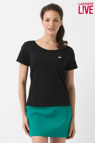 L!VE Short Sleeve Boatneck Jersey T-Shirt
