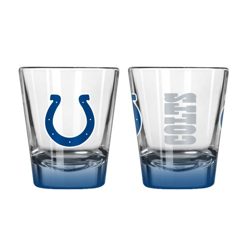 NFL Indianapolis Colts Elite Shot Glass, 2-ounce, 2-Pack