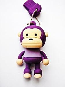 GadgetMe BrandsTM Baby Milo Monkey 4GB USB Flash Drive - Purple - in GadgetMe BrandsTM Retail Packaging with Branded Microfiber Cloth