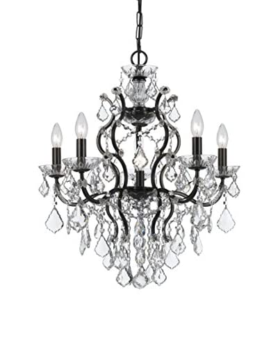 Cameron Linear Chandelier With Crystals