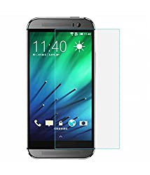 HTC One M8 Tempered Glass Screen Protector with OTG Cable (TEMPERED GLASS + OTG CABLE) COMBO by DRaX®