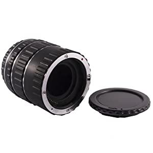 Neewer® Macro Extension Tube Set for Canon EOS DSLR SLR Lens, Extreme Close-Ups (Black), fits Canon EOS 1d,1ds,Mark II, III, IV, 5D,Mark II, 7D, 10D, 20D, 30D, 40D, 50D, 60D, Digital Rebel xt, xti, xs, xsi, t1i, t2i, 300D, 350D, 400D, 450D, 500D, 550D, 1000D (Copper bayonet)