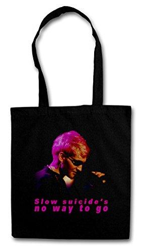 SLOW SUICIDEŽS NO WAY TO GO Hipster Shopping Cotton Bag Borse riutilizzabili per la spesa - Layne Staley Alice Rock In Grunge Chains