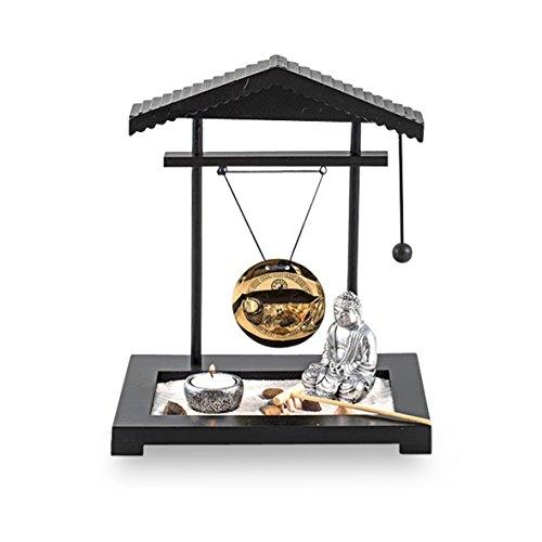 58287 Zen-Garten mit Buddha Figur, Kunststoff, Höhe 30 cm
