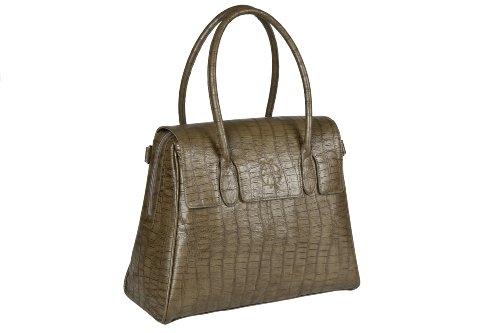 Lassig Tender Brief Bag Croco Olive