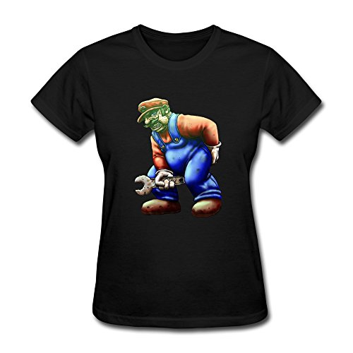 FEDNS Women's Games Mario Super Bros Alt Art Wrench T Shirt