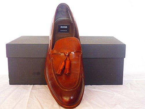 Hugo Boss Herren Schuhe,Hugo Boss Luxiss Mokassins Braun Größe;10 Echte Leder thumbnail