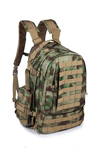 OUTGEAR Military Assault MOLLE Rucksack 3 Day Large Tactical Gear Backpack with Grenade Survival Kit For Hiking Climbing Outdoor Sports,