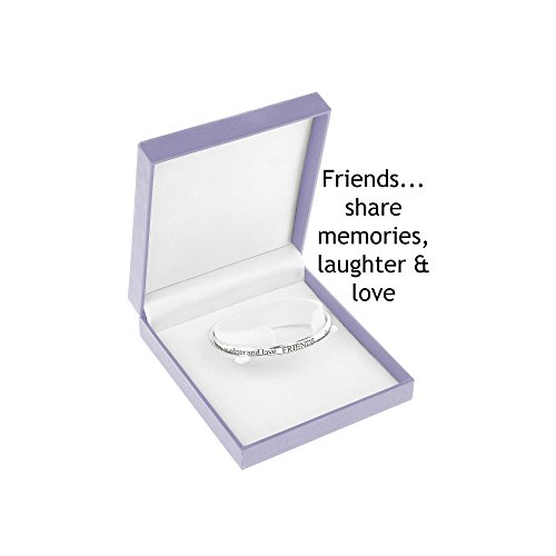 Equilibrium Silver Plated Bangle - Friends...Share Memories Laughter And Love by Equilibrium Technologies