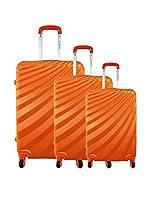 zifel Set de 3 trolleys rígidos A18C (Naranja)
