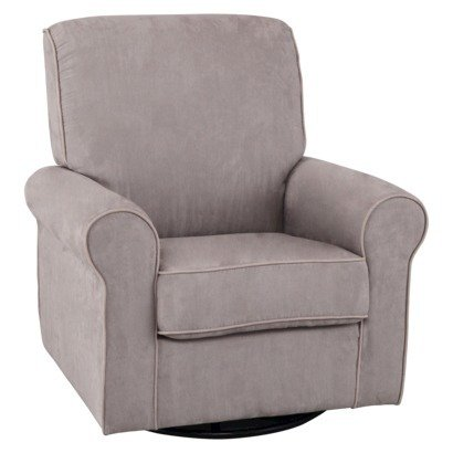 Simmons Kids Augusta Upholstered Glider - Dove Grey front-790005