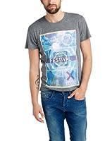 Esprit Camiseta Manga Corta (Gris / Azul)