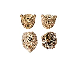 Knighthood Set of Lion,Tiger And Jaguar Lapel Pin