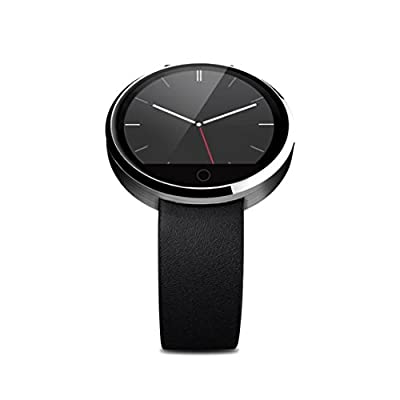 Sinma Waterproof Bluetooth SmartWatch, All-in-1 Finger Gestures Voice Control Smart Wirst Watch with Heart Rate Monitor, Sedentary Reminder, Two Way Anti-lost, Pedometer,Remote Camera Function, Silver