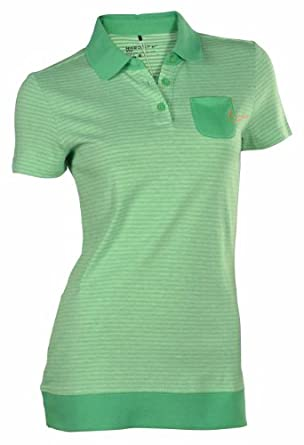 Nike Ladies Sport Graphic Novelty Golf Polo Shirt-Green by Nike