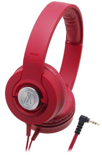 audio-technica SOLID BASS 密閉型オンイヤーヘッドホン ポータブル レッド ATH-WS33X RD