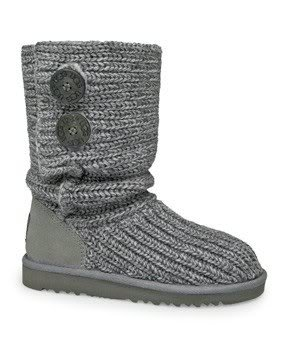 UGG® Australia Classic Cardy Grey 5 Kid Boots