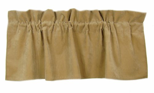 American Mills 36882.214 Jaguar Valance, 18 by 54-Inch, Khaki, Set of 2